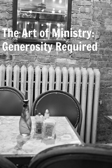 art of ministry generosity required
