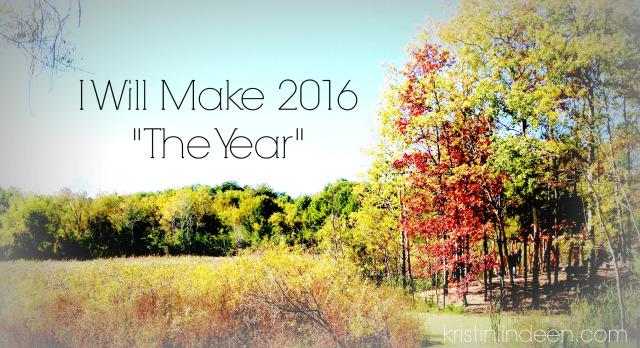 I will make 2016 the year that I change.